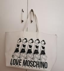 Love Moschino torba bijela