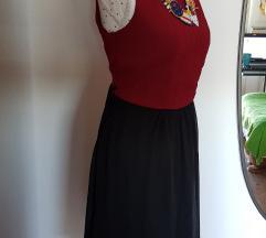 Nova Vogele crno-crvena haljina