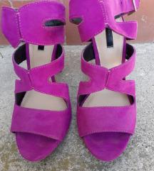 Zara sandale ciklama boje