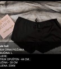 Crna kratka pidžama