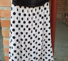 Crno bijela točkasta haljina