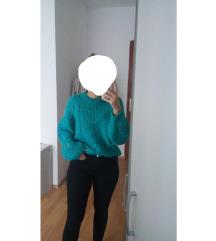 Pull&Bear zeleni pulover