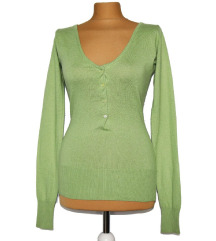 Limeta zelena majica Patrizia pepe svila i kašmir
