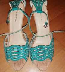 Sandale-tirkizne