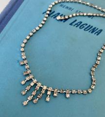 Vintage kristalna ogrlica