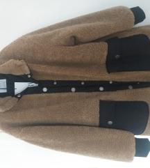 Zara kaput sa umjetnom runom oversize 152 NOVO