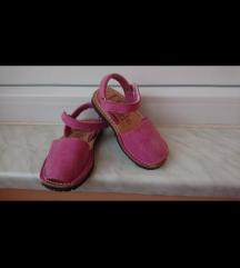 Kožne sandale za curice br. 25, ug cca 15cm, NOVO
