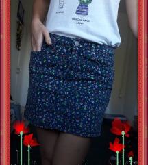 Cvjetni traper šos/suknja - SPRINGFIELD,vel.XS(34)