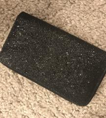 Crna šljokičasta torbica