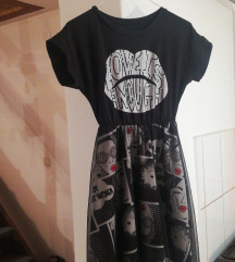 Nova crno bijela haljinica 36/38