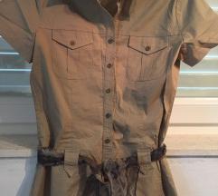 MISS SELFRIDGE bež haljina košulja Safari stil