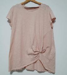 Nova H&M roza majica s čvorom ukrasnim