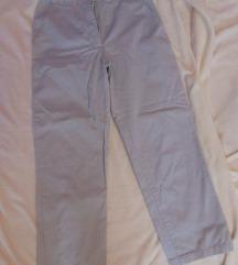 Ženske bijele pamučne hlače
