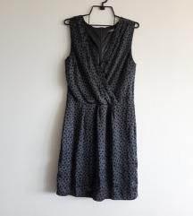 Siva haljina s uzorkom