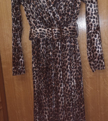 Tigrasta plišana haljina