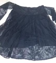 HM suknja crna čipka