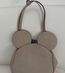 Nova torbica Minnie sivo bež boje