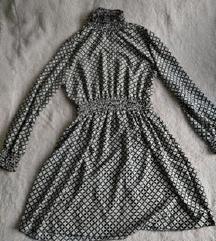 Crno bijela haljina s ovratnikom