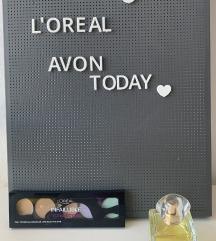 AVON parfem Today + L'oreal paleta