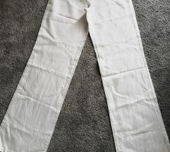 Bijele ljetne lanene hlače Sisley, vel. 40