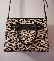 Mango velika čvrsta leopard crna torba