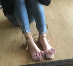 Puder roze sandale