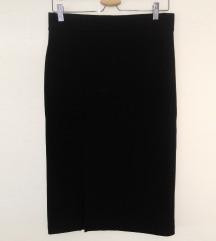 H&M, duža poslovna suknja, crna, M