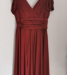 Nova duga bordo svečana haljina 42/44/46