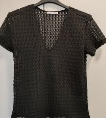 Crna rupičasta Zara majica