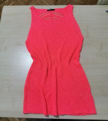 Pink vezena haljinica s