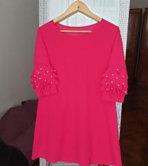 Fuksija roza haljina (uljucena pt u cijenu!)