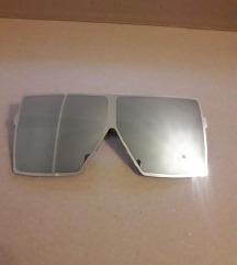 Metalik sive srebrne oversize sunčane naočale