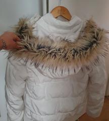 Bijela zimska jakna S
