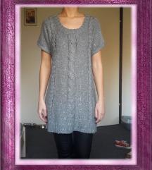 Siva tunika/pulover/džemper, vel. XS/S (34/36)