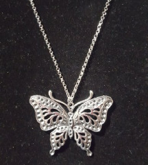Lančić tibetansko srebro leptir