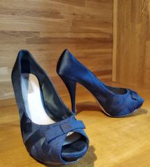 Tamnoplave Zara cipele na petu br.38