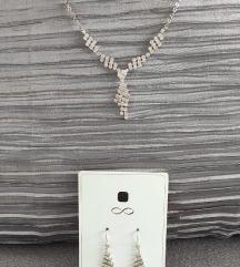 Naušnice  + ogrlica