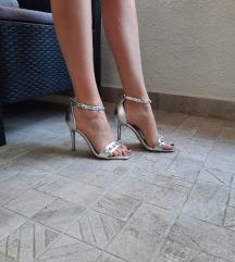 UP COLLECTION sandale na petu srebrne, MASS