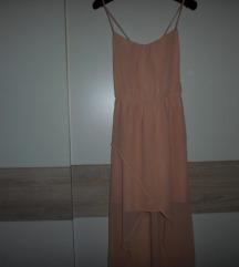 ZARA TRF maxi haljina boje pudera vel.S