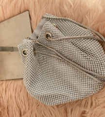 Svečani srebreni ruksak