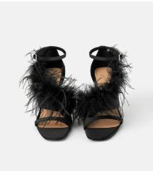 Zara sandale sa perjem, 39