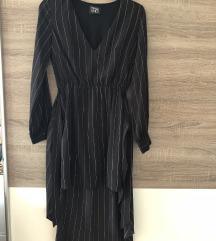 ASOS LINES crna prugasta haljina