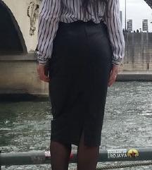 Kožna crna suknja