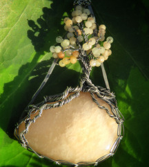 Peach moonstone tree of life