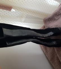 NOVO Zara prava koža visoke čizme