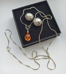 LOT vintage ogrlica i naušnice
