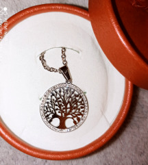 Nova ogrlica od nehrđajućeg čelika DRVO ŽIVOTA