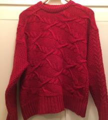 ZARA crveni pulover vel L