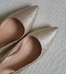 🖤 NOVE zagasito zlatne cipele 40