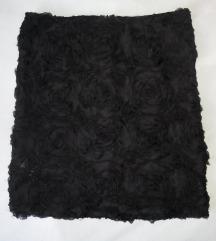 Crna suknja s ružama Bik Bok